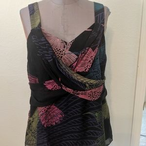 Tibi Hummingbird Silk Black Camisole 8